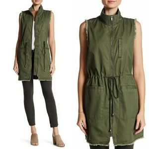 RO&DE Olive Green Utility Vest Jacket Sleeveless M